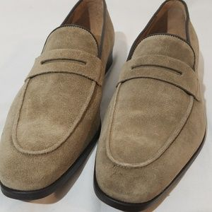 Barney's New York Suede Penny Loafers  (MSRP $455)
